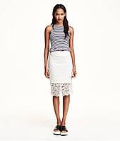 Белая кружевная юбка H&M, фото 1