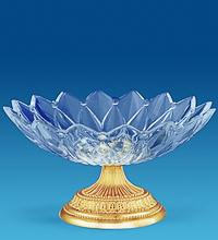 Позолоченная посуда и вазы Сваровски