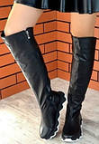 Осенние женские замшевые шикарные ботфорты Mante crazy цвет марсала! Сапоги на змейке деми на еобычной подошве, фото 9