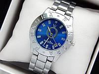 Женские кварцевые наручные часы Pandora (Пандора) серебро, с синим циферблатом, фото 1