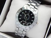Женские кварцевые наручные часы Pandora (Пандора) серебро, с черным циферблатом, фото 1