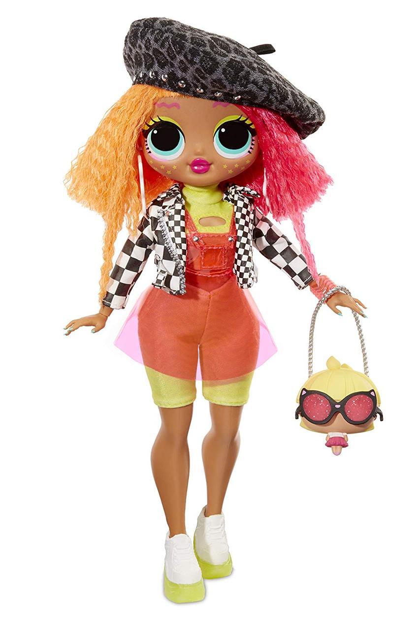 Большая кукла Лол LOL сюрприз Леди Неон L.O.L. Surprise! O.M.G. Neonlicious Fashion Doll with 20 Surprises