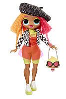 Большая кукла Лол LOL сюрприз Леди Неон L.O.L. Surprise! O.M.G. Neonlicious Fashion Doll with 20 Surprises, фото 1