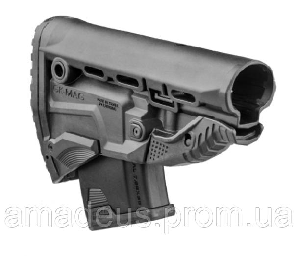 GKMAGB Приклад FAB для AK с держателем магазина, черный (без буферной трубы)
