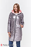 Пальто для беременных KRISTIN OW-49.013 металлик с розовым, фото 8