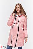 Пальто для беременных KRISTIN OW-49.013 металлик с розовым, фото 5
