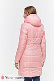 Пальто для беременных KRISTIN OW-49.013 металлик с розовым, фото 7
