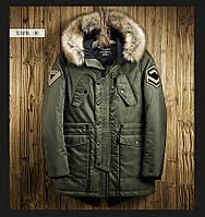 Куртка парка мужская осень бренд City Сhannel (Канада) размер 44 хаки 03002/022, фото 1