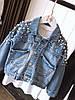 Джинсовые курточки с жемчугом Размер универсальный 42-46. (21298), фото 3