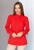 Офисная блузка с длинным рукавом красная