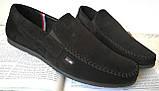 Style! Tommy Hilfiger! Мужские в стиле Томми Хилфигер черные замшевые туфли с пряжкой, фото 2