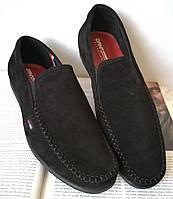 Style! Tommy Hilfiger! Мужские в стиле Томми Хилфигер черные замшевые туфли с пряжкой