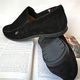 Style! Tommy Hilfiger! Мужские в стиле Томми Хилфигер черные замшевые туфли с пряжкой, фото 7