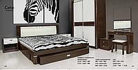 Спальня  в коричневом глянцевом цвете ,со структурой дерева, Сити