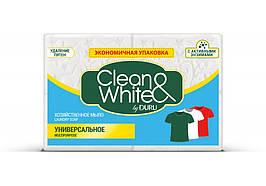 Мило господарське Duru, Clean&White,універсальне/відбіл 4*125 г