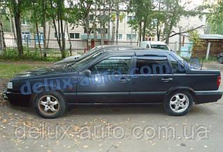 Ветровики Cobra Tuning на авто Volvo 850 Sd 1991-1997 Дефлекторы окон Кобра для Вольво 850 седан 1991-1997