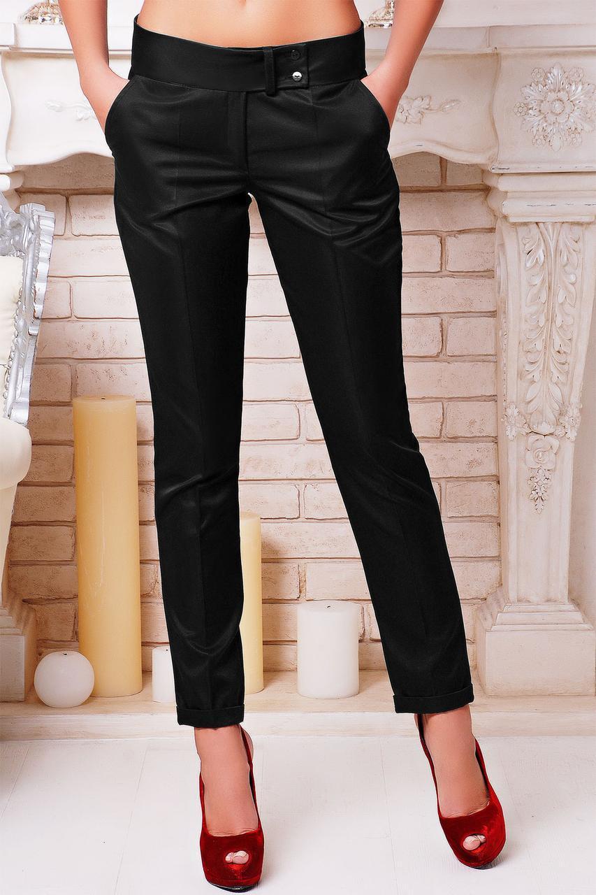 Женские классические брюки c низкой посадкой черные