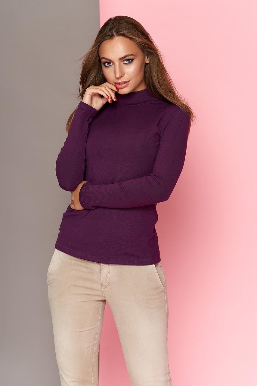 Кофта водолазка женская фиолетовая