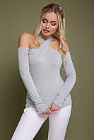 Стильная и модная женская серая кофточка