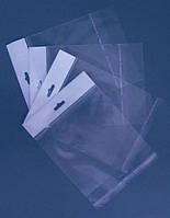 Пакеты полипропиленовые с еврослотом 12x22+4/25мк