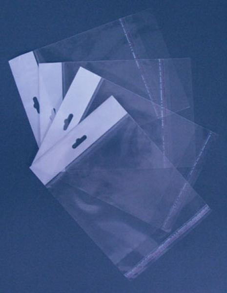 Пакеты полипропиленовые с еврослотом 9x36,5+3/25мк