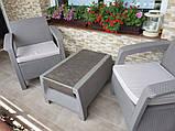 Набор садовой мебели Corfu Weekend Set Cappuccino ( капучино ) из искусственного ротанга ( Allibert by Keter ), фото 5