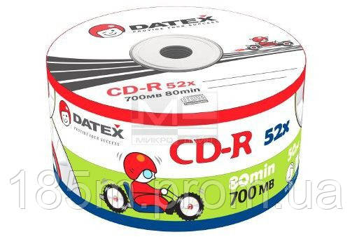 Диск DATEX CD-R 700Mb 52x Bulk 50 pcs - ДЦ ЕЛЕКТРО (DC ELEKTRO) в Сумах