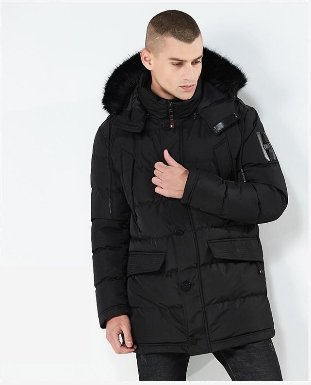 Куртка парка мужская зима бренд City Channel (Канада) размер 50 черная 03003/013