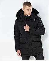 Куртка парка мужская зима бренд City Channel (Канада) размер 50 черная 03003/013, фото 1