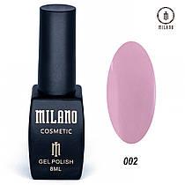 Гель-лак Milano 8 мл. №002  ⭐⭐⭐⭐⭐