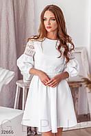 Платье с ажурными вставками Разные цвета