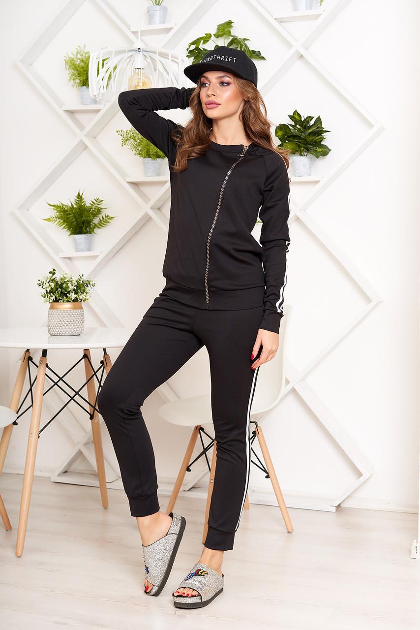 Женский спортивный костюм черный прогулочный