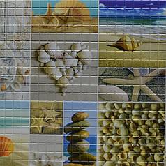 Панели декоративные ПВХ, Морской берег, НАЛ 95.6 Х 48см