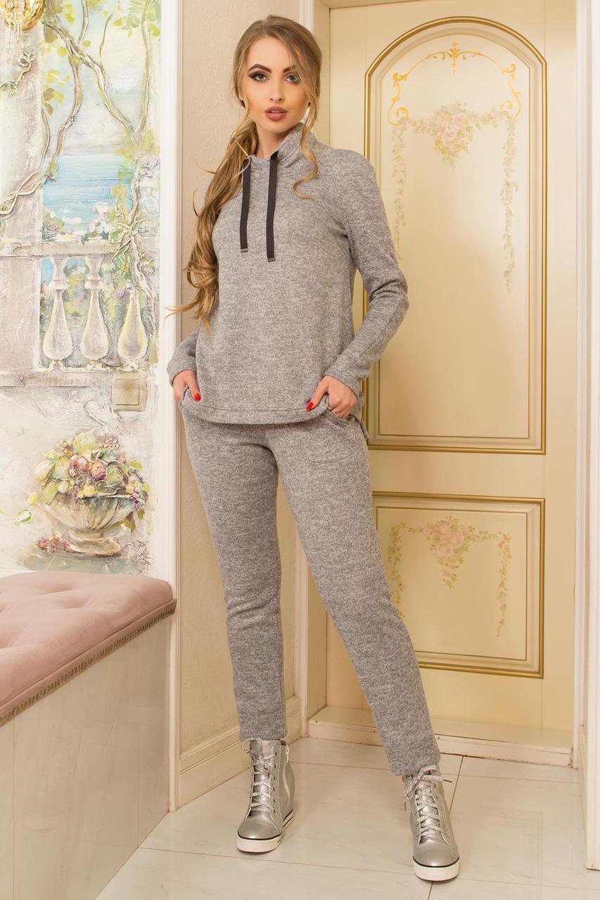 Женский спортивный костюм трикотажный серый