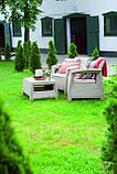 Набор садовой мебели Corfu Weekend Set Cappuccino ( капучино ) из искусственного ротанга ( Allibert by Keter ), фото 10