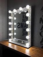 Зеркало настольное с подсветкой M