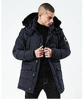 Куртка парка мужская зима бренд City Channel (Канада) размер 48 темно синяя 03003/02, фото 1