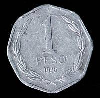 Монета Чили 1 песо 1996 г.