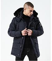 Куртка парка мужская зима бренд City Channel (Канада) размер 54 темно синяя 03003/02, фото 1