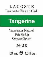 Парфюмерная композиция версия аромата Lacoste Essential  Lacoste нота Tangerine - 50 мл