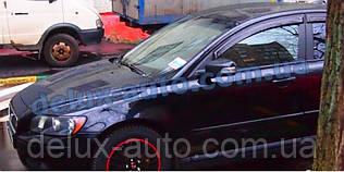 Ветровики Cobra Tuning на авто Volvo S40 II Sd 2004 Дефлекторы окон Кобра для Вольво С40 2 седан с 2004