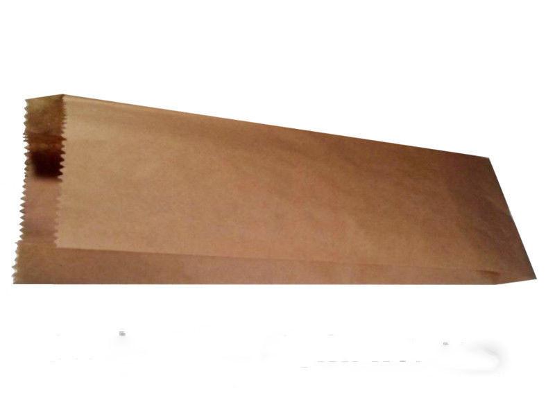 Пакет бумажный 10/4x42 см коричневый