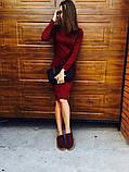 Трикотажное платье миди футляр с длинным рукавом, 12 цветов, с 48 по 52рр, фото 3