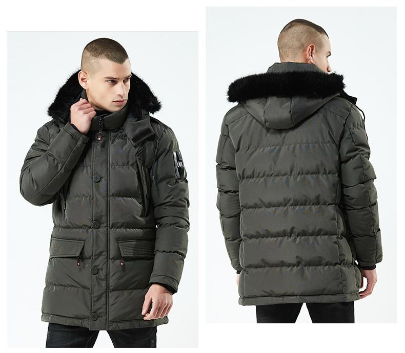 Куртка парка мужская зима бренд City Channel (Канада) размер 48 хаки 03003/032