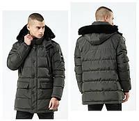 Куртка парка мужская зима бренд City Channel (Канада) размер 48 хаки 03003/032, фото 1