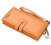 Жіночий гаманець BAELLERRY N1632 Women Long клатч з ремінцем Коричневий (SUN5494), фото 1