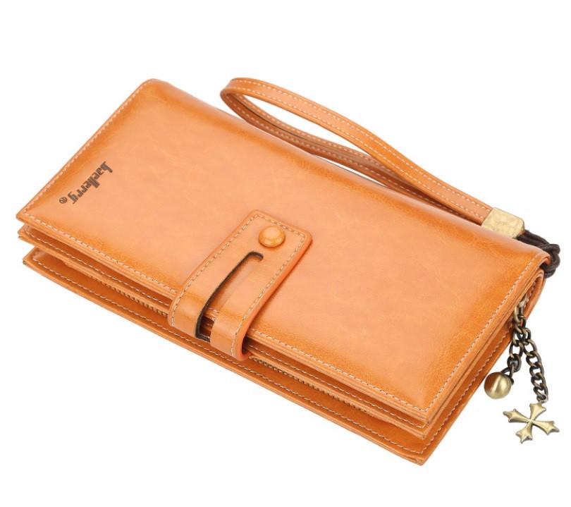 Жіночий гаманець BAELLERRY N1632 Women Long клатч з ремінцем Коричневий (SUN5494)