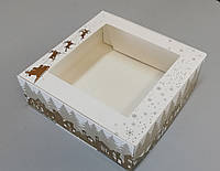 Новогодняя коробка для зефира 200*200*70