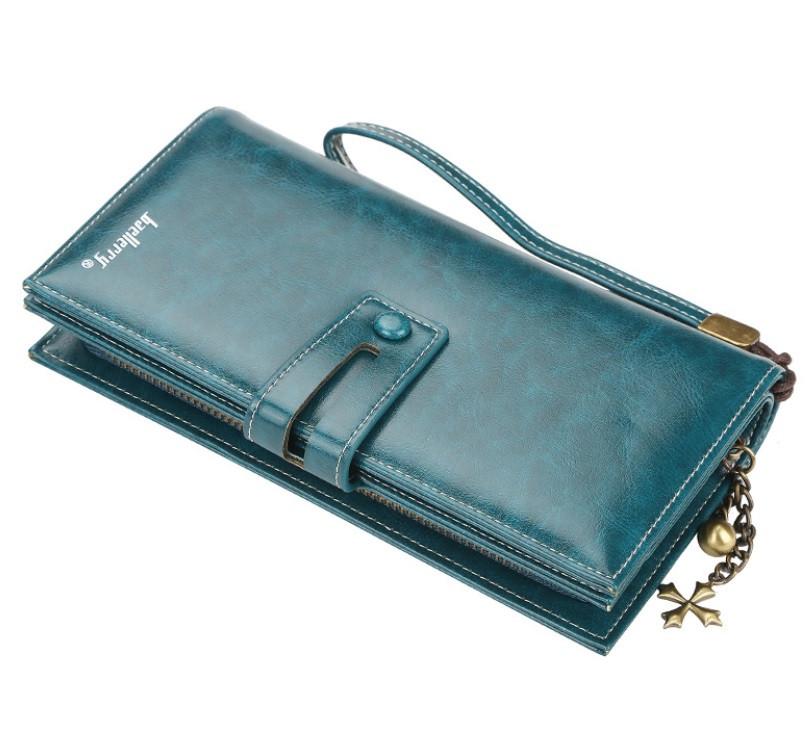 Жіночий гаманець BAELLERRY N1632 Women Long клатч з ремінцем Синій (SUN5495)