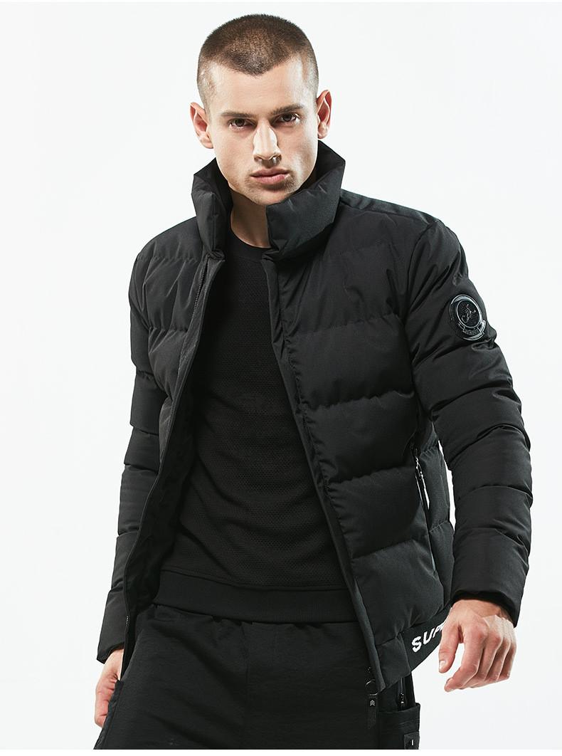 Куртка бомбер мужская осень бренд City Channel (Канада) размер 44 черная 03004/012